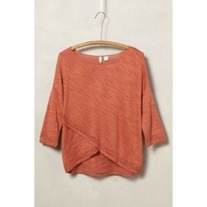 Anthropologie Crossed Pointelle pullover sweater S